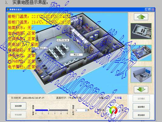 在监控中心通过现有的电力通信网对所属变电站实现远程实时视频监控