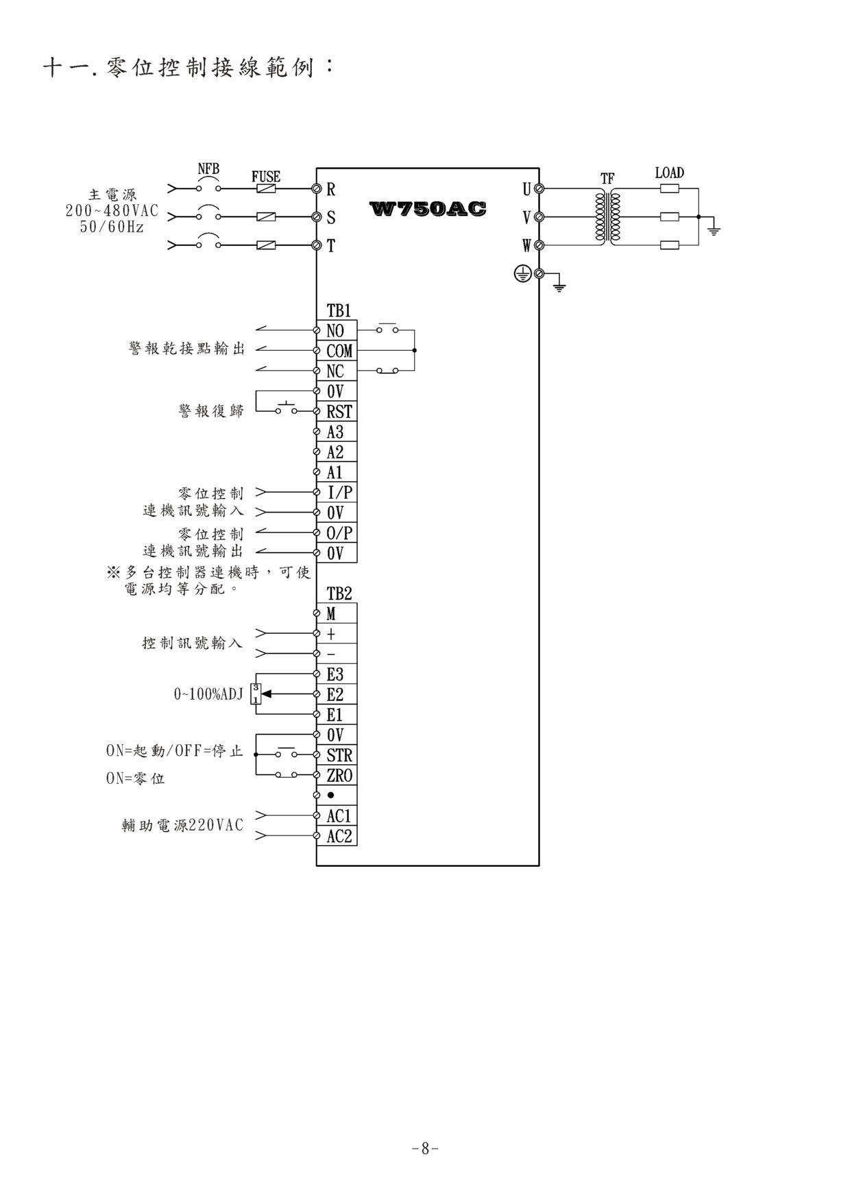 台湾桦特w750ac交流定电压定电流控制器