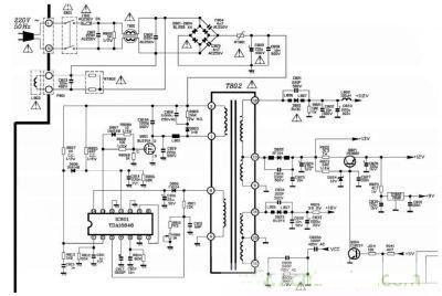 开关稳压电源在彩电中的应用