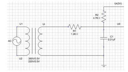 采样滤波电路示意图