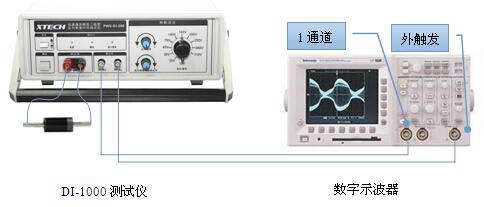 示波器示意�_图2 di-1000测试仪器和示波器连接示意图