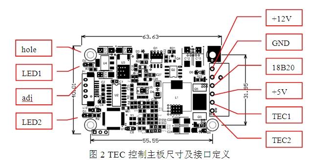 网站首页 产品中心 >> tec制冷驱动源  二 ,控制器指标 输入:dc12v~13