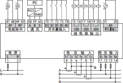 典型功能接线示意图(以