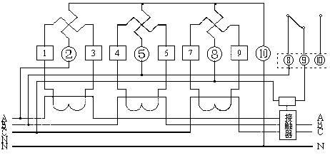 电子式三相四线预付费电能表dtsy8666怎么接线