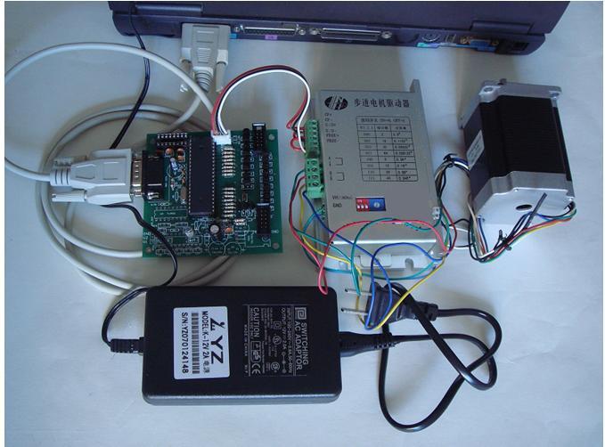 步进电机驱动器一个,步进马达一个,配套电源一个,精美串口线一根.