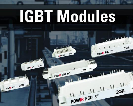 IR新IGBT模块系列适合高功率工业应用