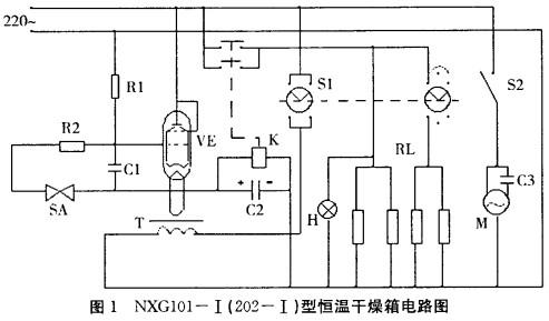 2 采用可控硅的控制电路   可控硅,也叫晶闸管,是一种常用的电子元